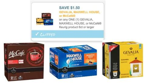 printable coupons for maxwell house k cups new 1 50 1 gevalia maxwell house mccafe k cup coupon
