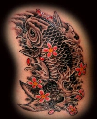 tattoo koi fish black koi fish tattoo photos 02 the collectioner