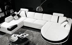 enez ultra modern contemporary black white leatherette 1000 ideas about white leather sectionals on pinterest