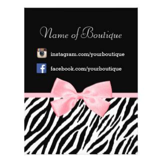 Boutique Flyer Template Free boutique flyers programs zazzle