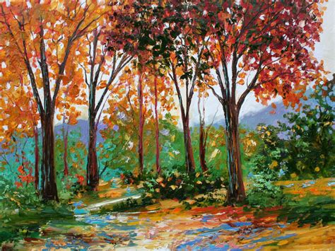 A Painting by Wallpapers Autumn Paintings
