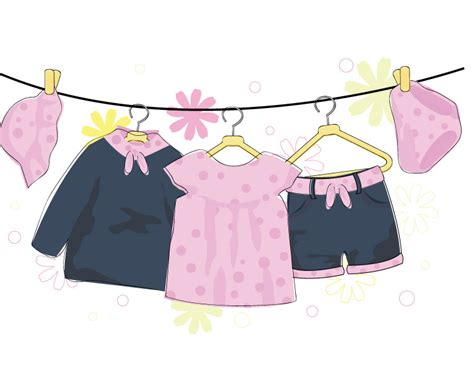 clothes vector design free download cartoon baby clothing vector free download clip art