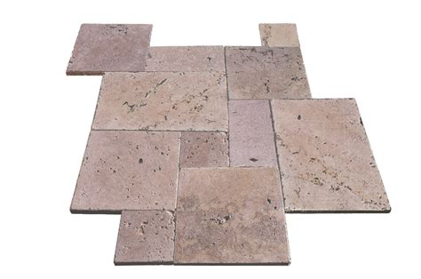 installing french pattern travertine tiles affordable travertine pavers low cost french pattern