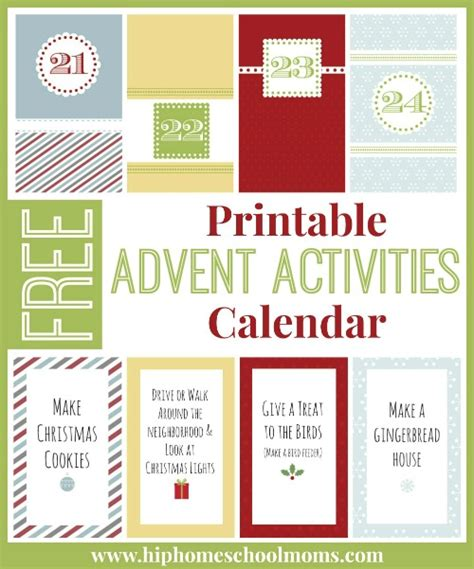 free printable advent calendars for kids calendar