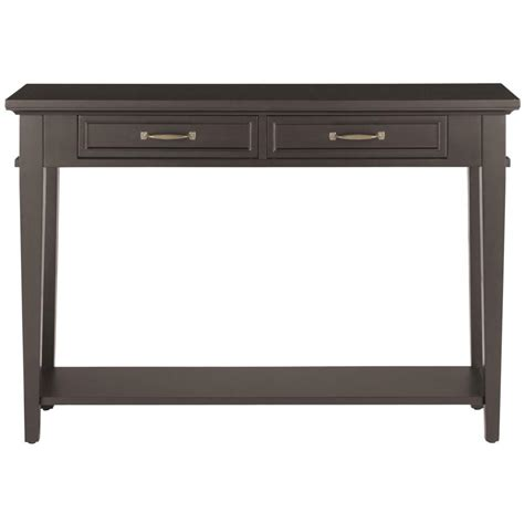 and martin console table home decorators collection martin black storage console