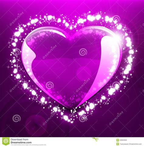 imagenes de corazones que brillen coraz 243 n que brilla intensamente en el fondo violeta