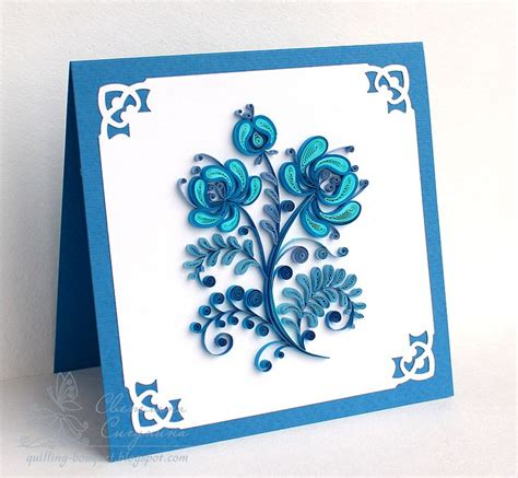 How To Make Paper Quilling Cards - 402 best images about quilled flowers on