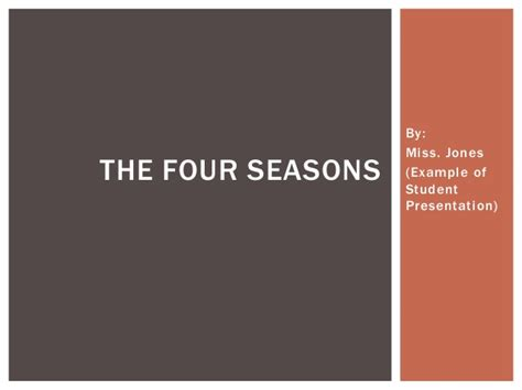 powerpoint tutorial for students seasons student powerpoint exle