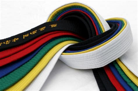 taekwondo belt colors belts east coast tae kwon do