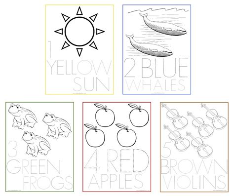 coloring pages of numbers 1 5 tracing numbers 1 5 worksheet for preschoolers and