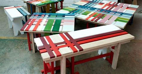 bench over the tops plaid bench by raw edges i can t do this with all wood