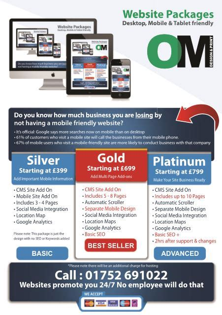 magazine layout rates oracle media group om web design packages