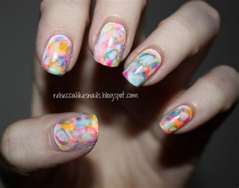 watercolor nails tutorial rebecca likes nails new technique watercolor nails