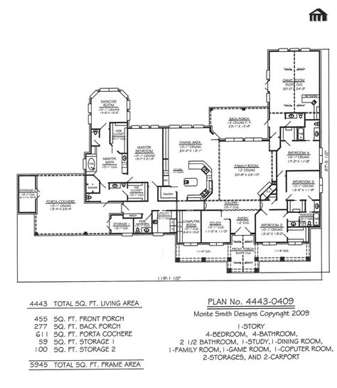 4 bedroom house plans 1 story 5 3 2 bath floor best farm