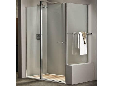 docce murate box doccia in cristallo entra 5000 by duka