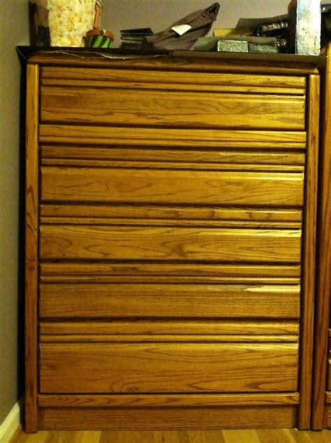 no room for dresser in bedroom refresh 1990 s oak dresser