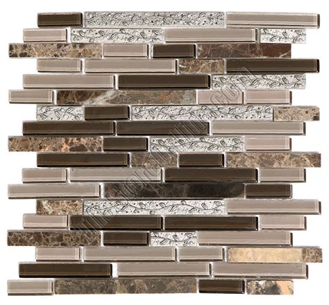 Decorative Tile Strips by Linear Glass And Metal Mosaic Gs4008 5 8 X