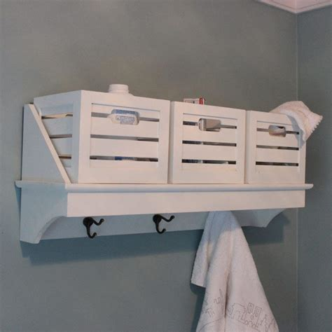 Basket Shelf Storage Unit by White Overhead Wall Shelf Basket Storage Unit Coat Hook