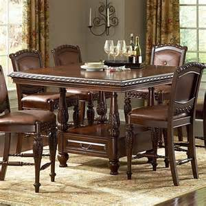Antoinette Dining Room Set by Buy Antoinette Counter Dining Table Set In Cherry