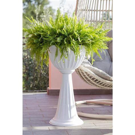 colonne da giardino vaso vasi fioriera da giardino a colonna alba bama bianco