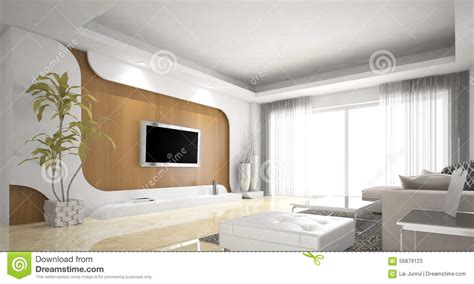 living room design northern europe stock illustration