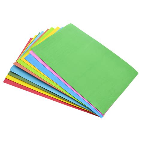 Foam Craft Paper - 10 sheets thick multicolor a4 sponge foam paper