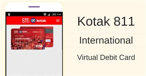 kotak mahindra bank debit card kotak 811 debit card all you need to