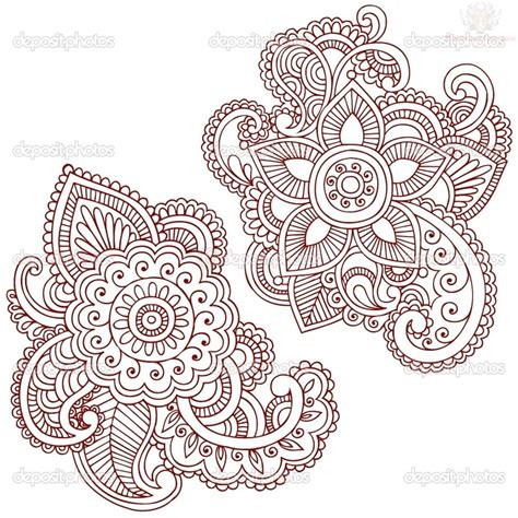 henna style flower tattoos paisley pattern images designs