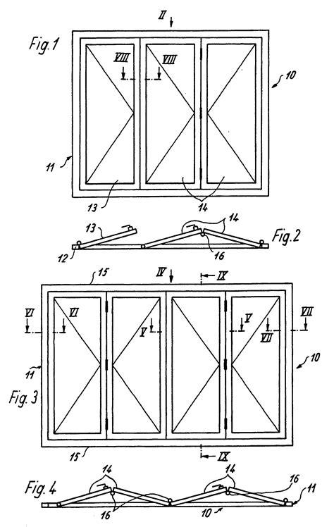 Darstellung Fenster Ansicht by Patent Ep0277531b1 Faltschiebet 252 R Oder Fenster