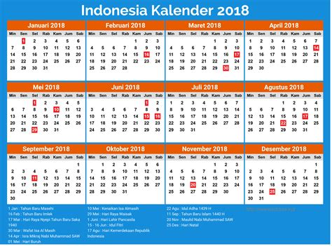 printable calendar 2018 indonesia calendar 2018 indonesia png takvim kalender hd