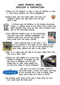 addition amp subtraction word problems ks2 year 5 by