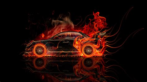 subaru fire subaru impreza wrx sti fire abstract car 2014 el tony