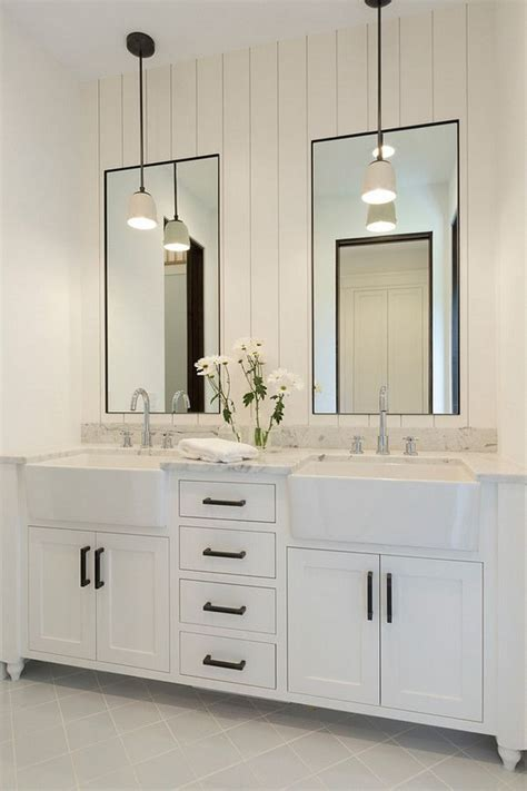 modern farmhouse bathroom ps design for you shiplap mirror bathroom walls and