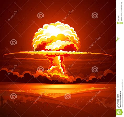 nuclear explosion stock photo image 30517680