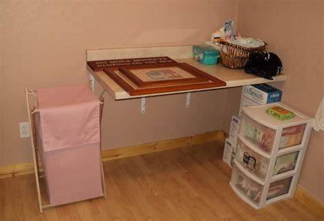 wall mounted table diy diy wall mounted changing table diy do it your self