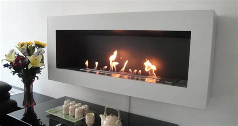 The Fireplace by Wall Mounted Fireplace Afire Ethanol Wall Fireplace