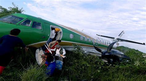 Bajura Kolti Airport yeti airlines plane overshoot runway while landing at bhairahawa airport all passengers safe