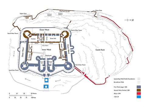 harlech castle floor plan file harlech castle plan jpg wikimedia commons