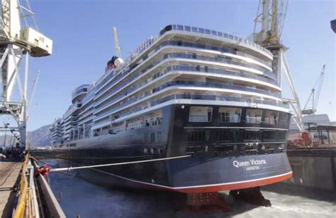 cruise ship dry dock cunard cruise ship resumes service after major dry dock