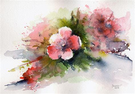 fiori acquarello pin acquerelli botanici acquarelli di fiori