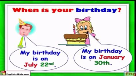 when is months birthdays when is your birthday unit 3