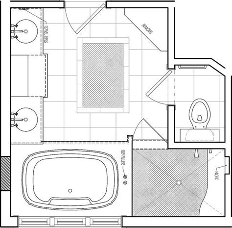 bathroom floor plans free 25 best ideas about master bath layout on pinterest