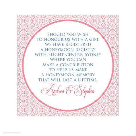 Gift Registry Cards In Wedding Invitations - alannah rose wedding invitations stationery shop online sweet rococco gift