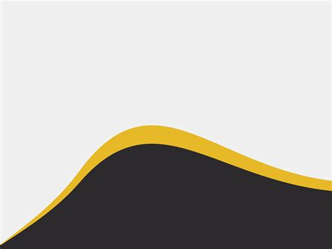 Yellow Wave PPT Backgrounds   Abstract, Black, Yellow