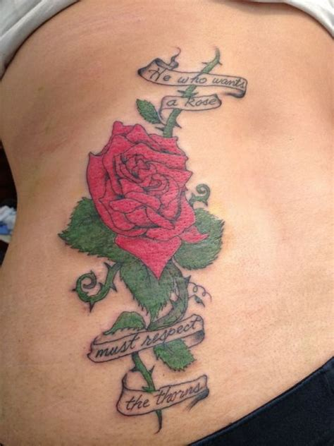 roses and thorn tattoos 31 best with thorns images on