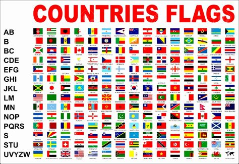 all flags of the world printable 16 world flags with names printable besttemplates