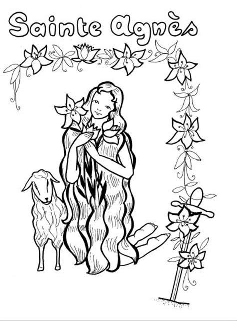 St Agnes Coloring Page agnes and the coloring page coloriage sainte