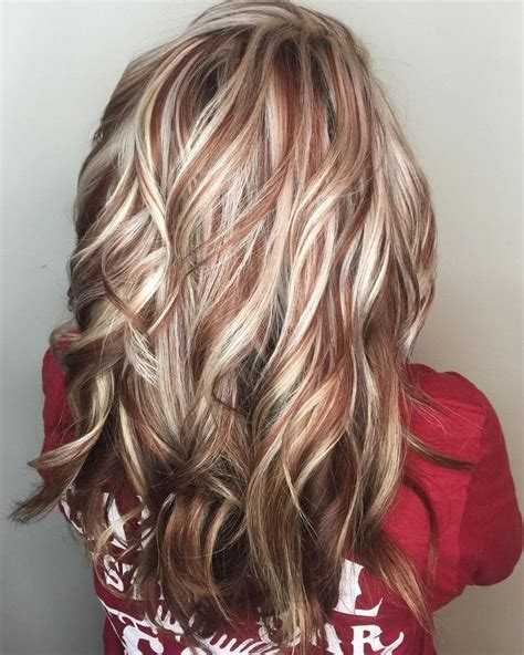 best red highlights ideas for blonde brown and black hair best 25 red low lights ideas on pinterest red blonde