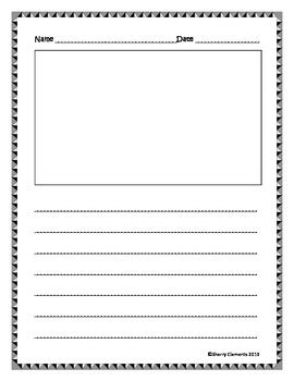 printable writing and drawing paper writing paper lines and drawing frame by sherry clements