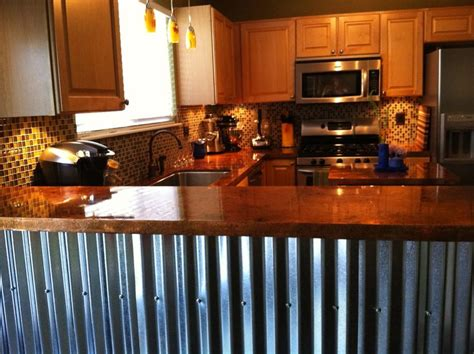 bar tops ideas copper bar top with corrugated metal sheeting on the sides